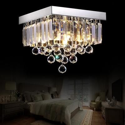 Squared Ceiling Lights Modern Crystal Ball Crystal Fringe Ceiling Light Fixtures for Bedroom