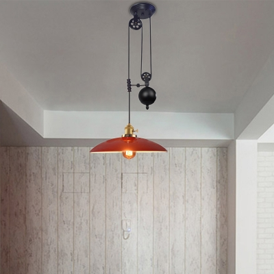 Brass Finish Dome Pendant Ceiling Lights Modern Industrial Metal 1 Light Hanging Lamps for Dining Room HL560738 фото
