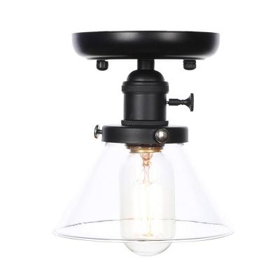Contemporary Creative Semi Flush Mount Light Metal 1 Head Semi-Flush Mount Ceiling Fixture for Bedroom