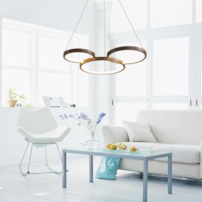 Loops Led Chandelier Lamp Modern Style Metal Ambient Pendant Lighting for Bedroom