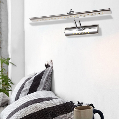 White/Warm White Stainless Steel Wall Light Fixture Modern Linear LED Wall Sconce for Bathroom Vanity