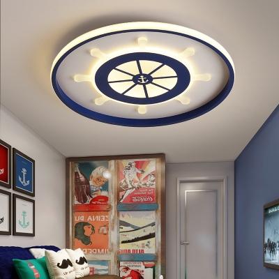 Acrylic Ultra Thin Flush Ceiling Light with Rudder Design Nautical Led Flush Mount Light
