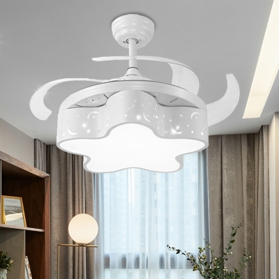 Modern Novelty Star Ceiling Fixture Metal and Acrylic 1-Light Ceiling Fan for Children Kids Bedroom