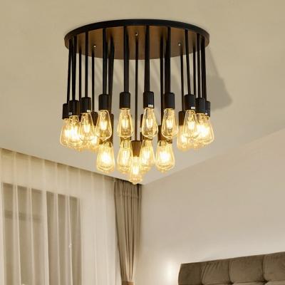 Black Bare Bulb Ceiling Light Fixture