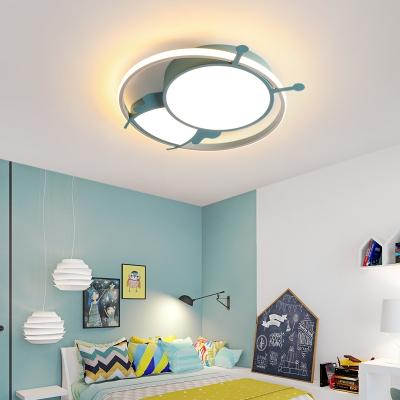 Cartoon Ant Flush Mount Light with Ring Acrylic Led Flush Lighting for Kids Bedroom