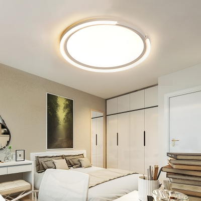 Metal Round Close to Ceiling Light Minimalism Led Ceiling Flush Light with Acrylic Diffuser