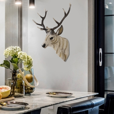 Village Deer Wall Mounted Light with Resin Shade Decorative Corridor Wall Lighting
