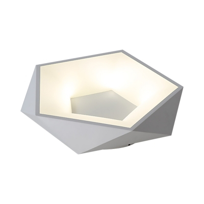 White Diamond Flush Light Fixture LED Simple Style Acrylic Ceiling Lamp for Bedroom