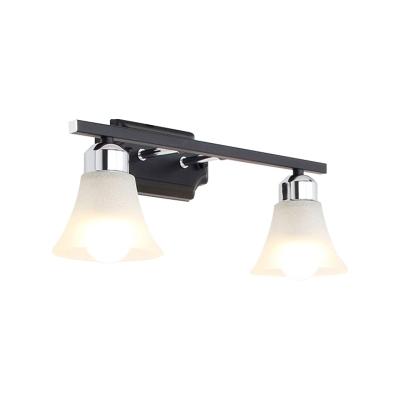 2/3/4 Lights Sconce Wall Lighting for Indoor, Modern Glass Bell Sconce Light Fixture in Black