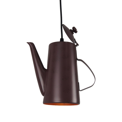 Kettle Ceiling Pendant Lights Modern Stainless Steel 1 Head Hanging Pendant Lights for Restaurant