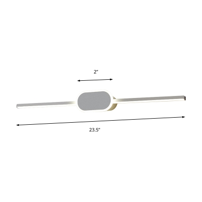Minimalist Slim Wall Lighting Metal Integrated Led Indoor Vanity Light for Bathroom