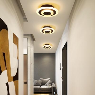 Acrylic Round/Square Ceiling Lamp Minimalist Led Flush Mount Ceiling Light for Hallway