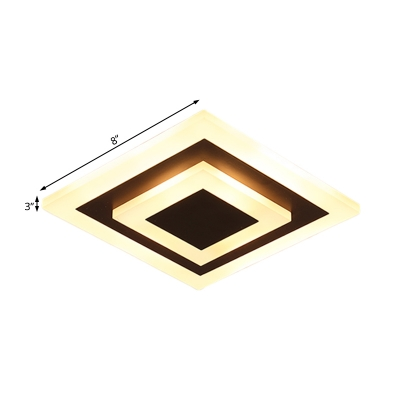 Acrylic Round/Square Ceiling Lamp Minimalist Led Flush Mount Ceiling Light for Hallway