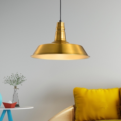 Antiqued Barn Hanging Lamp Metal Single Pendant Light with Adjustable Cord for Living Room