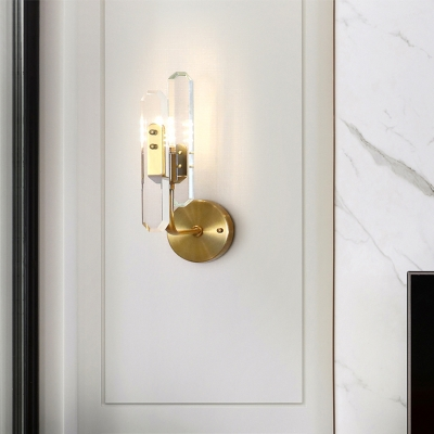 Unique Crystal Sconce Wall Lights Nordic Style Metal LED Wall Mounted Lights for Indoor