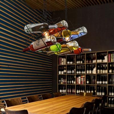 Contemporary 2 Bulbs Ceiling Pendant Light Metal Glass Bottle Ceiling Light Fixtures over Kitchen Island