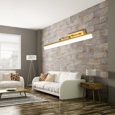 Gold Linear Wall Mounted Lights Modern Acrylic amd Metal Wall Sconce Lighting in Warm/White for Bathroom