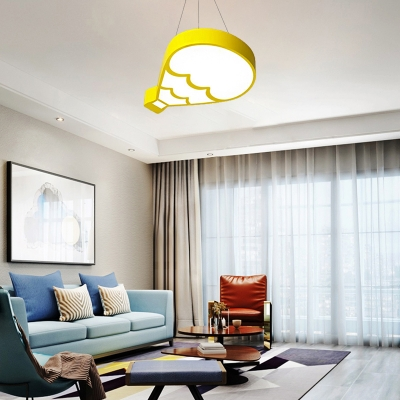 Hot Air Ballon Ceiling Light Modern Kids Metal Led Flush Ceiling Lamp with Acrylic Diffuser