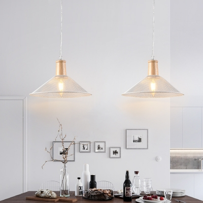 Wire Mesh Pendant Lighting Fixture Industrial Modern Metal and Wood 1-Light Cord Hung Light HL559339 фото