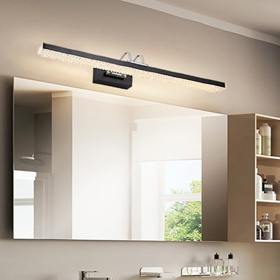 Modern Swing Arm Wall Light Fixture Acrylic Led Vanity Mirror Light For Bathroom Beautifulhalo Com