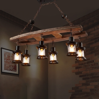 Rustic Island Chandelier Iron And Wood
