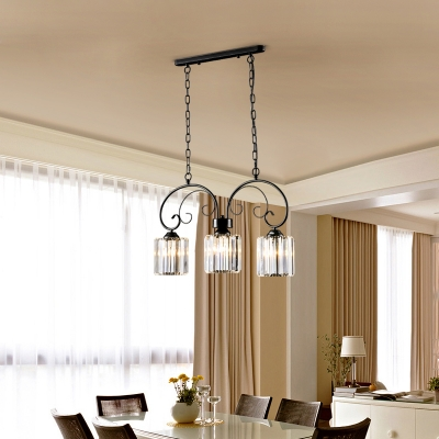 Black Crystal Hanging Light Fixture