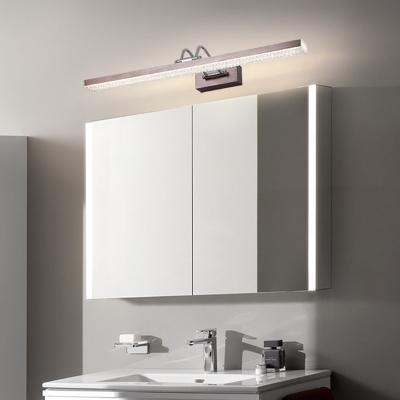 Modern Swing Arm Wall Light Fixture Acrylic Led Vanity Mirror Light for Bathroom