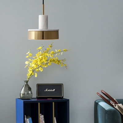 Post Modern Stamp Pendant Lamp Marble Integrated Led Hanging Light with 47
