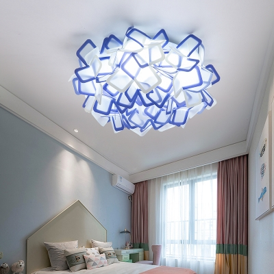 Sinuous Flush Mount Ceiling Light Art Deco Indoor Ceiling Flush Light with Acrylic Shade