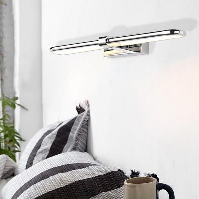 Waterproof Stainless Steel Linear Wall Light Modern Sconce Wall Lighting for Bathroom Vanity