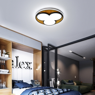 Cartoon Design Acrylic Shade Flush Mount Light Nordic Style LED Ceiling Mounted Lights in Black/White