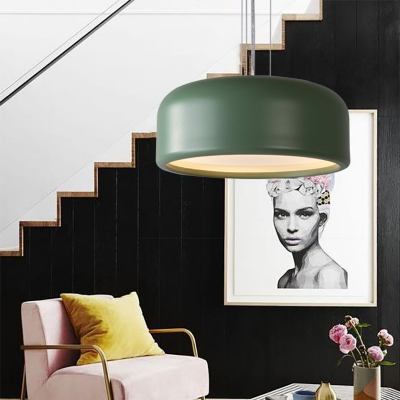 Nordic Style Dome Pendant Light with Diffuser Metal Multi Light Hanging Ceiling Light