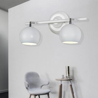 Black/White/Bronze Linear Sconce Light Fixture Modern Metal 2/3/4 Lights Sconce Lamp for Bathroom