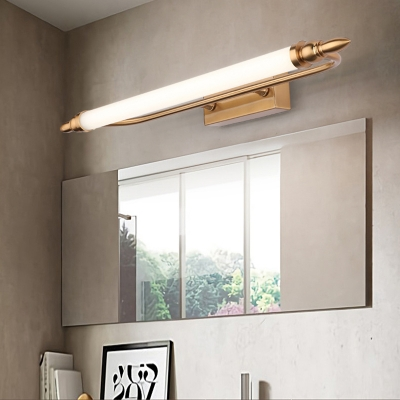 Metal Acrylic Led Wall Light Fixtures Modern Linear Sconce Wall Lamps For Bedroom Bathroom Beautifulhalo Com