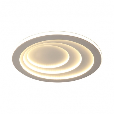 Acrylic Ultrathin Round Flush Mount Simple LED Ceiling Light Mounted Fixture in White