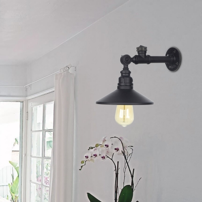 Cone-Shaped Sconce Wall Lights Industrial Vintage 1 Light Sconce Lights with Switch for Corridor