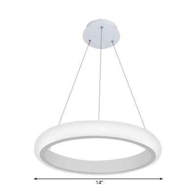 White Donut Chandelier Lighting Nordic Style Acrylic Led Indoor Pendant Light for Foyer