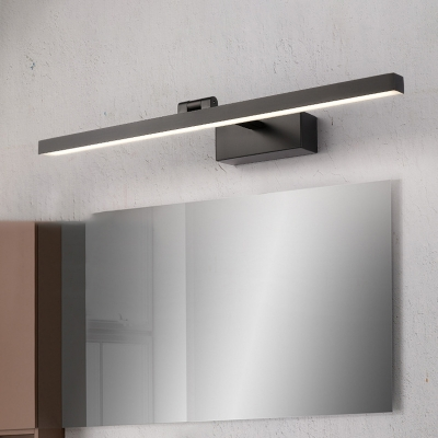 Black LED Wall Sconce for Vanity, Modern Metal Acrylic Wall Light Fixture in White/Warm