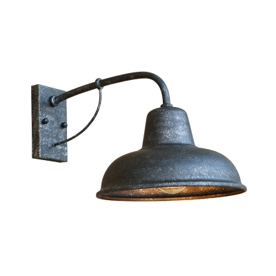 Gooseneck Wall Lights Artison Rustic Industrial Metal 1 Bulb Sconce Wall Light for Hall