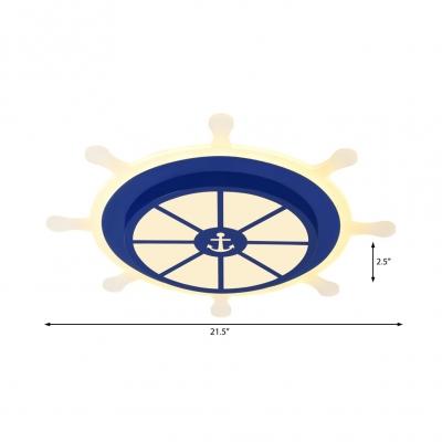 Mediterranean Round Rudder Flushmount 19.5