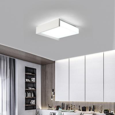 Modern Simple Square Flush Light Acrylic LED Black/White Flush Mount Suction Lamp