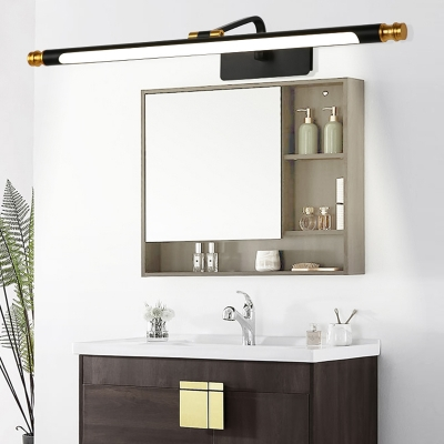 White/Black Wall Sconces Modern Acrylic and Iron 1 Light LED Wall Sconce for Bathroom Vanity