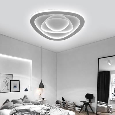 Acrylic Triangle Flush Mount Lighting LED Modern Simple Flush Ceiling Lights in White