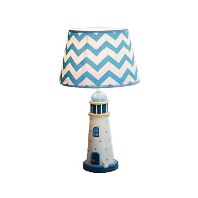Cartoon Table Lamps Fabric and Iron 1 Light Pyramid Accent Lamp with Remote for Kids Room
