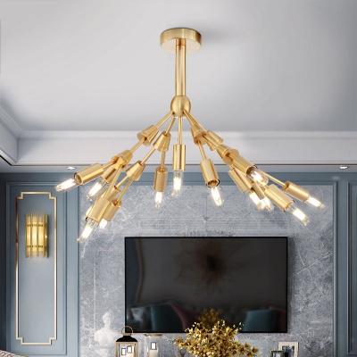 Sputnik Chandelier Lighting Mid Century Modern Multi Light Brass Pendant Light
