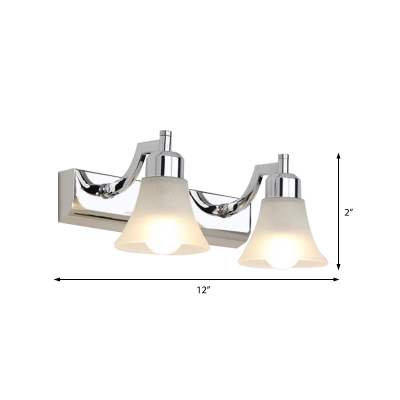 White/Warm Bell Sconce Lights Modern Metal and Glass 2/3/4 Heads Sconce Wall Lamps for Vanity