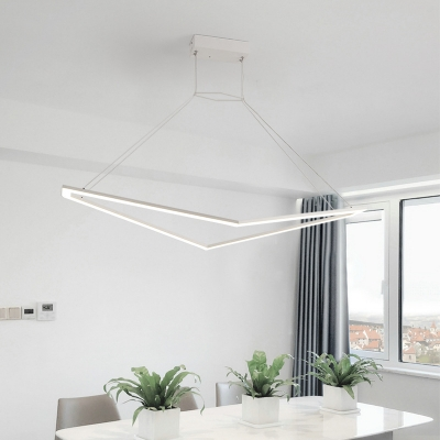 Integrated Led Geometric Pendant Light Minimalist Acrylic Hanging Ceiling Light for Dining Room