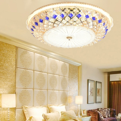 Multi Colored Round Ceiling Light Fixtures Modern Crystal 1