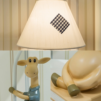 Novelty Deer Desk Lamp Contemporary Modern Fabric and Resin 1 Head Accent Lamp for Study