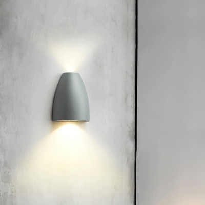 2 Lights Led Mini Wall Mount Lamp Minimalist Metal Stair Wall Lighting in Black/Gold/Grey/White